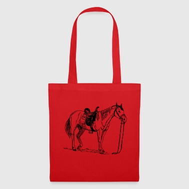 Cheval, poney, jument, étalon, - Tote Bag