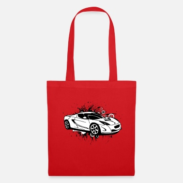 Sportscar Cool white sportscar - Tote Bag