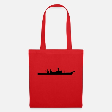 Navy Vector Navy warship Silhouette - Tote Bag