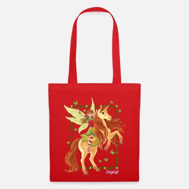 Marween rides on rising unicorn - Tote Bag