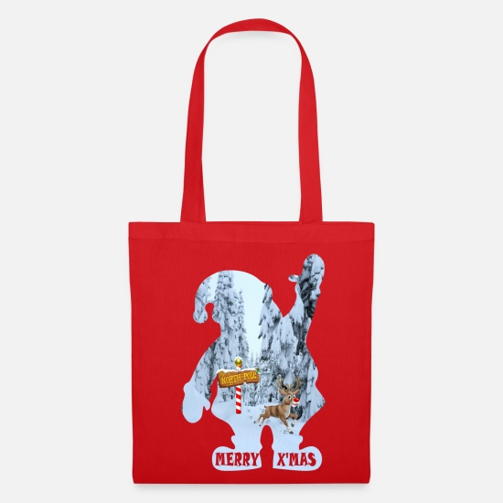 Birthday Bags & Backpacks - RUDOLPH CHRISTMAS - Tote Bag red