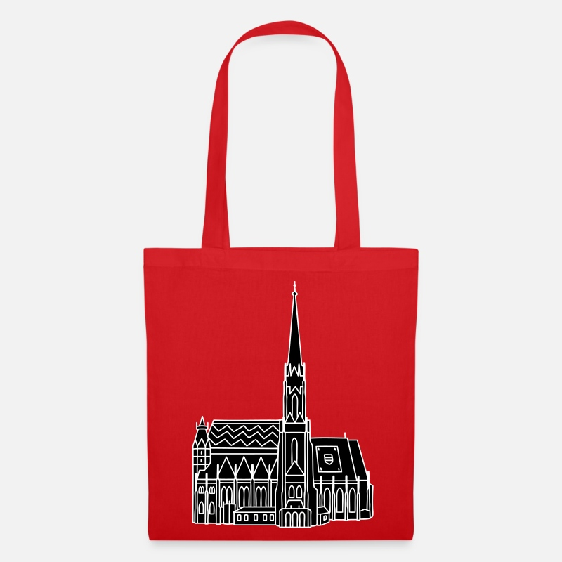 Catholic Bags & Backpacks - St. Stephen's Cathedral Vienna 2 - Tote Bag red