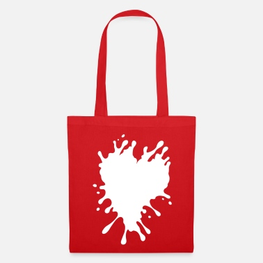 Splatter Heart - Tote Bag