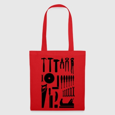 Outils  bricolage Menuisier Charpentier  - Tote Bag