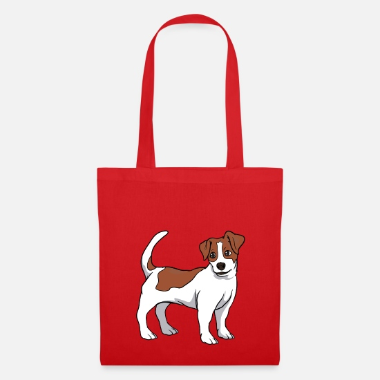 Jack Bags & Backpacks - Jack Russell Terrier dog - Tote Bag red