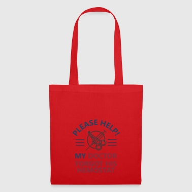 Surgeon doctor operation error arterial clamp - Tote Bag