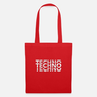 Techno Bass Techno Bass Music Shirt - Tote Bag