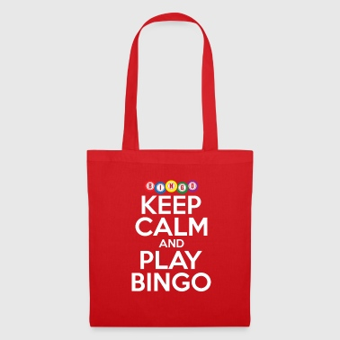 Keep Calm And Play Bingo Funny Lucky Player Cool - Tote Bag