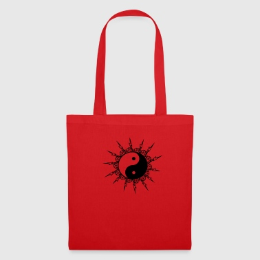 yingayang with flashing sun cosmos prana yogashirt - Tote Bag