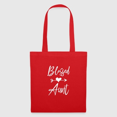 blessed aunt nephew niece heart - Tote Bag