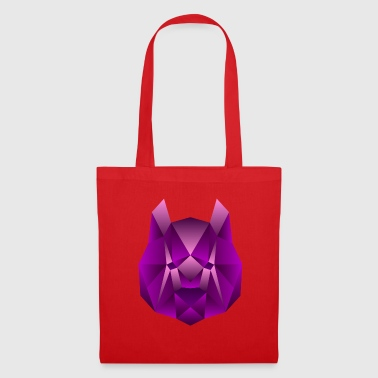 Abstract Polygon Panda / Bear (Purple)! - Tote Bag