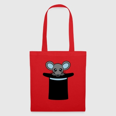 cylinder hat magician magician mouse cute cute k - Tote Bag