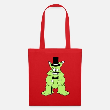 daemon sir mr gentlemen cylinder hat monocle bri - Tote Bag
