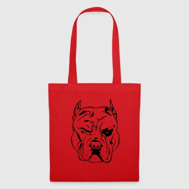 Aggressive Pitbull - Tote Bag