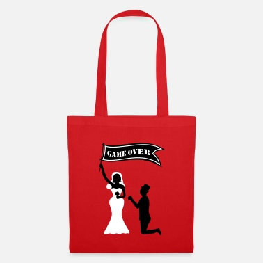 JGA game over flag Bride Groom Jafta Edison - Tote Bag