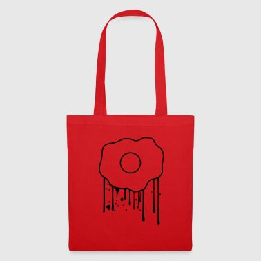 drop graffiti spray stamp fried egg food lec - Tote Bag