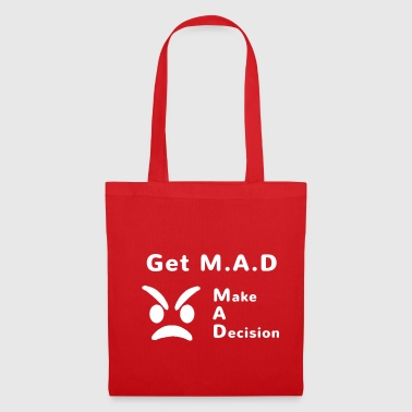 get mad white trans - Tote Bag