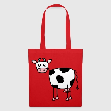 Funny cow with udder - Tote Bag