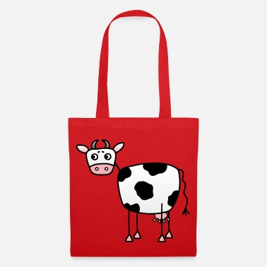 Udder Funny cow with udder - Tote Bag