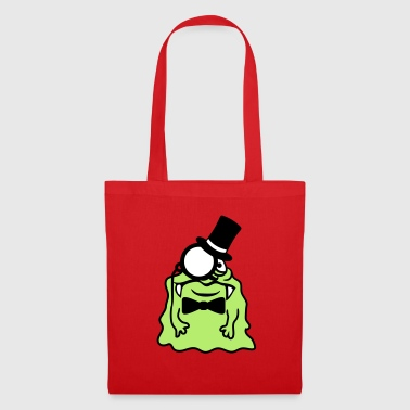 Sir gentlemen cylinder monocle rich glibber - Tote Bag