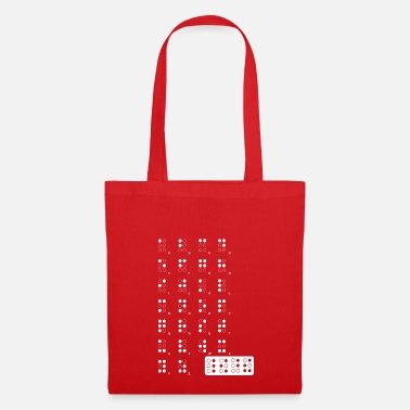 Braille wite Braille - Bolsa de tela