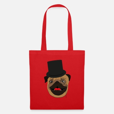 Wealthy The wealthy Pug - gift idea, monocle - Tote Bag