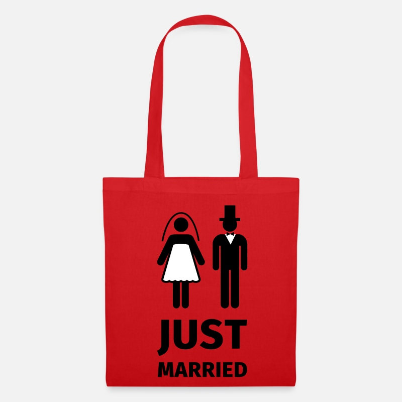 Just Borse & Zaini - just married - Borsa di stoffa rosso