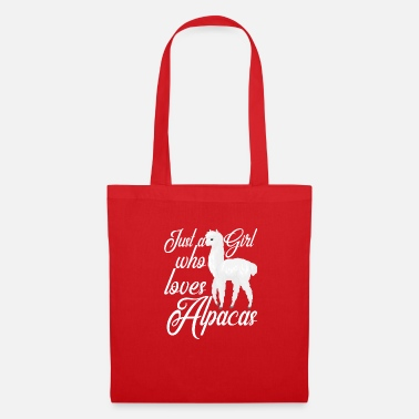 Ecuador Just A Girl Who Loves Alpac's Alpaca Lover Gift - Tas van stof