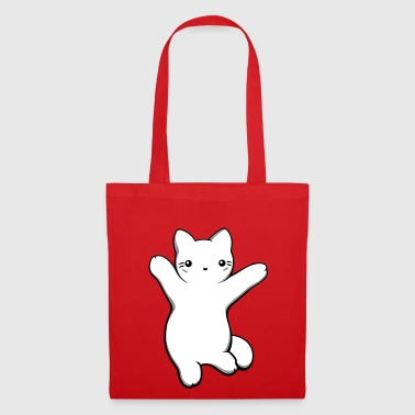 Chat kawaii pattes levées - Tote Bag