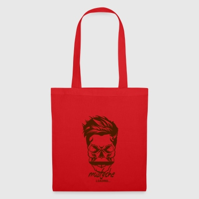 tete mort hipster citation mustache loading progre - Tote Bag