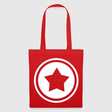 Star in a circle - in different colors - Tote Bag