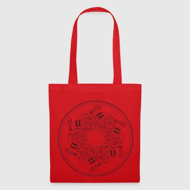 mandala turntable 1210 - Tote Bag