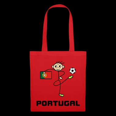 Portugal stick figure football player - Tote Bag