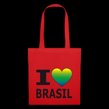 I love Brasil / heart with national colors - Tote Bag