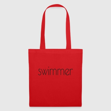swimmer text - Tote Bag