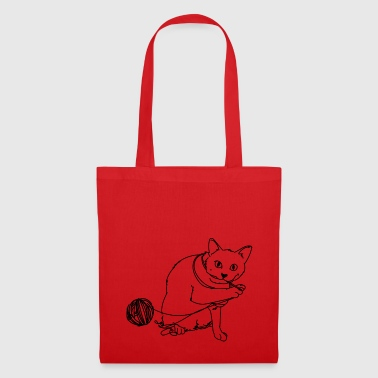 Playing cat - Tote Bag