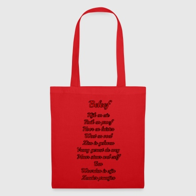The words are - light background - Tote Bag
