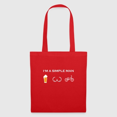 simple man like boobs beer beer tits bmx bmxer c - Tote Bag