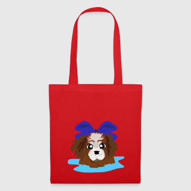 LOVELY BLUE PUPPY - Tote Bag