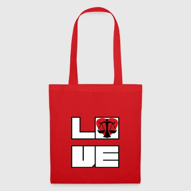 Love love lawyer justice justice - Tote Bag