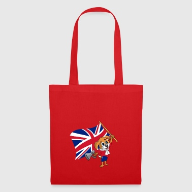 United Kingdom fan dog - Tote Bag