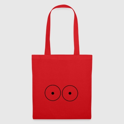 Tits black round - Tote Bag