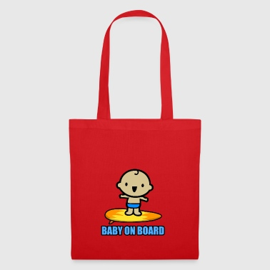 Baby on the surfboard! - Tote Bag