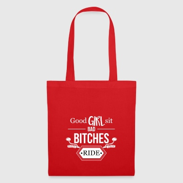 Good girl sits - riding evil bitches - moped - Tote Bag
