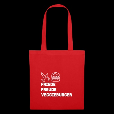 Friede Freude Veggieburger! The Design! - Stoffbeutel