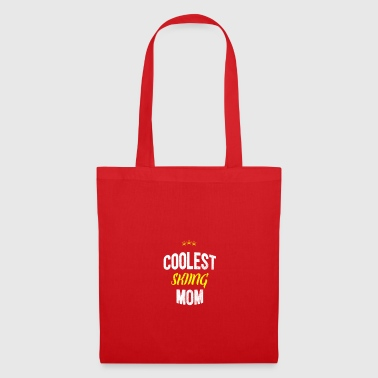 Distressed - COOLEST SKIING MOM - Tote Bag