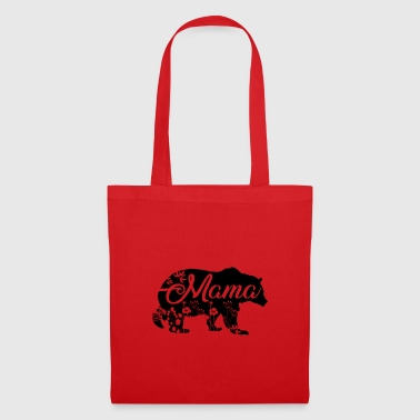 Mama Bear with flower decoration - Tote Bag
