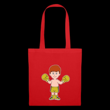 Cartoon boxer winner boy boxing gloves gift - Tote Bag