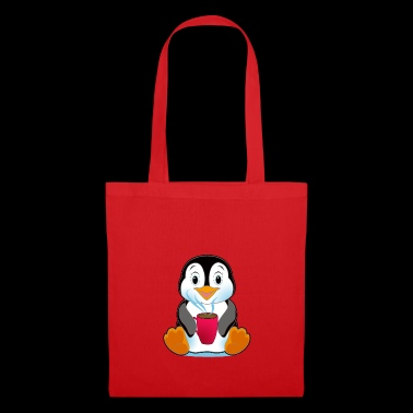 Penguin with Coffee Gift Cartoon Kawaii - Tote Bag