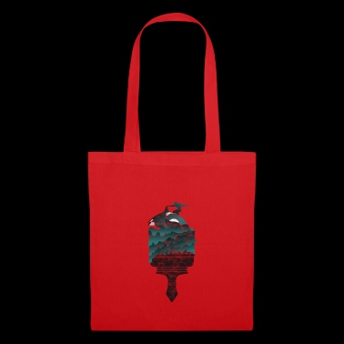Whale gift orca killer whale sea dolphin surfer - Tote Bag